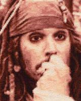 Jack Sparrow - Cross Stitch 2 by shingorengeki