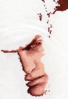 Piers Nivans - Resident Evil 6 Cross Stitch WIP by shingorengeki