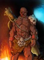 Monsterous Looking Man by jibrinarts