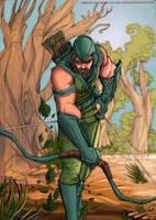 green arrow by jibrinarts