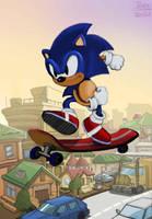 Sonic by jibrinarts