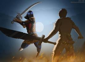 Sword fight by jibrinarts