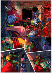 Blood trail 3-page 3 colors by me by jibrinarts
