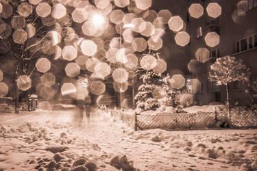Warsaw during winter by 4GottenWords