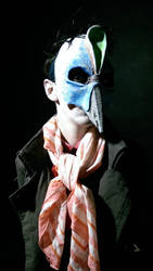 one of two bird masks by Handcuffknot