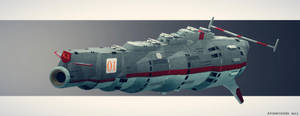 Russian Space Battleship Zamyatin by AtomicGenjin