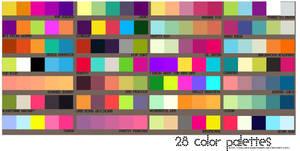 28 Color Palettes by sailorssweetheart