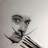 Salvador Dali WIP 6 by Lorelai82