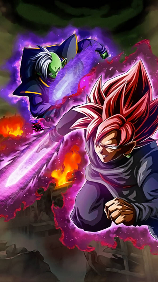 Dokkan Battle Lr Black And Zamasu Wallpaper 1080p By