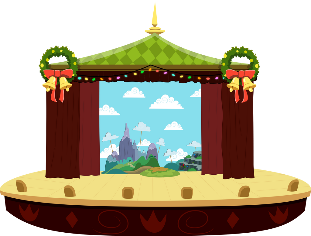 MLP Heart's Carol: Background (Full Stage View) by mewtwo-EX