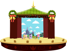MLP Heart's Carol: Full Stage View w/ Characters by mewtwo-EX