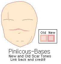 New and Old Scar Tones by Pinlicous-Bases