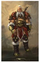 Barbarian santa by NuMioH