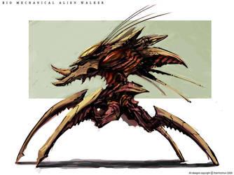 Bio Mechanical Alien Walker by NuMioH