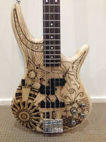 Pyrography Guitar Project Complete! by DC-Pyrography