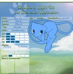 Zaviro pet application by Lord-Siver