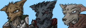 RPG Wolf avatars by Morgoth883