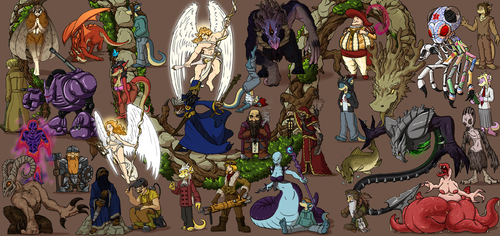 Poster Project - Character Illustration Bonanza by Morgoth883
