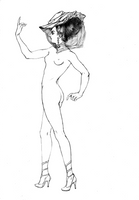 NAKED LADY WITH HAT (WIP) by tcktck