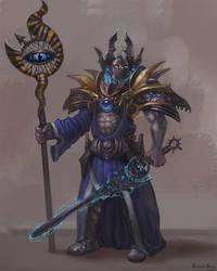 Warhammer Fantasy - Tzeentch sorcerer by GetsugaDante