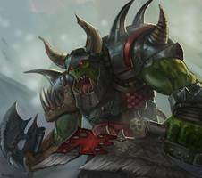 Warhammer Fantasy - Orc Big 'Un by GetsugaDante