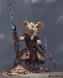 Commission - Dungeons and Dragons mousefolk by GetsugaDante