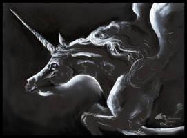 Aevaron Male Black Winged Unicorn Flying Pegacorn by StephanieSmall