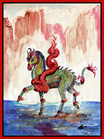 Kentaro the Kir'rin Japanese Sin Loo Dragon Horse by StephanieSmall