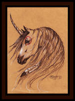 Native Unicorn Buckskin Mustang Horse Brown Bay by StephanieSmall