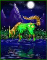 Dryads Charm Gygaxian D6 Unicorn Horse Pony Equine by StephanieSmall