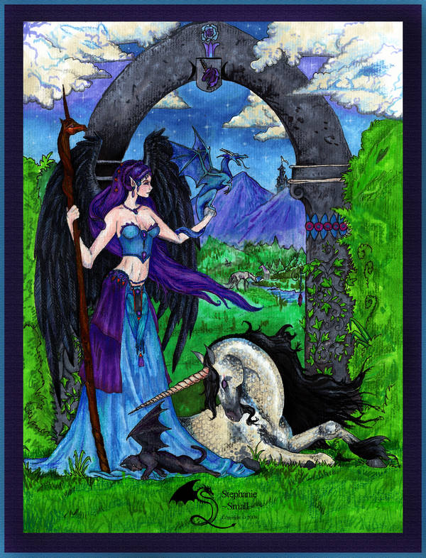 Princess Tariel Nimara Angel Unicorn Dragon Cat by StephanieSmall