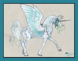 Epic Mount Stallion Friesian Pegacorn Gygaxian RPG by StephanieSmall