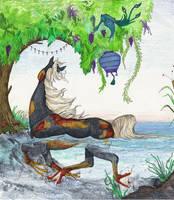 Shawndor Stud Black Koi Kelpie Hippocampus Horse by StephanieSmall