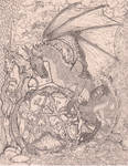 Unicorn Dragon Pentagram by StephanieSmall