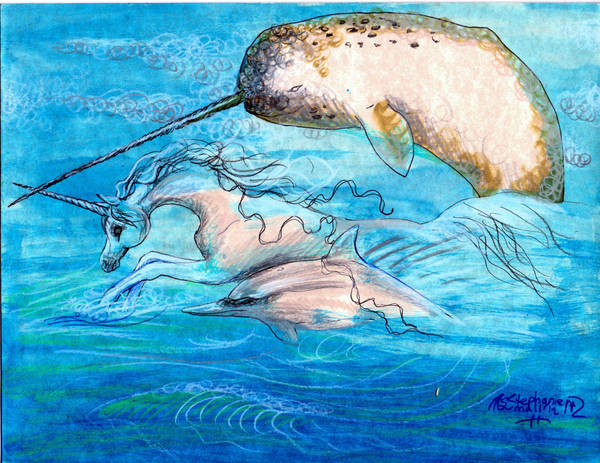 Dolphin Narwhal Unicorn by StephanieSmall
