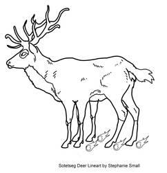 FREE Royal Sotetseg Deer Lineart by StephanieSmall