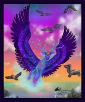 Rebudus Winged Flying Stag Deer Animal by StephanieSmall