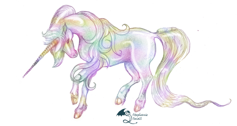 Eldeberis Rainbow Unicorn Colorful Horse Pony Cute by StephanieSmall