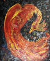 Phoenix Pheonix Bird Fire Firebird Flames Volcano by StephanieSmall