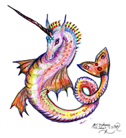 Unicorn Horse Pony hippocampus Draco Mare Equine R by StephanieSmall