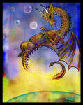 Dragon Reptile Monster Space Sky Planet animal rep by StephanieSmall