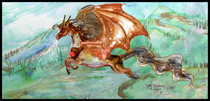 Brozir Pegasus Stallion Bronze Dragon Reference by StephanieSmall