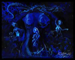 Woman Girl Female Blue Fairy Elf Mermaid Lady by StephanieSmall