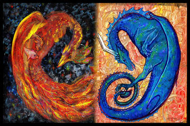 Dragon Reptile Monster Phoenix Bird Sky by StephanieSmall