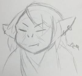 Goldy goblin elder by LeviathanComics