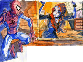 Spider-Man and Mary Jane by theintrovert