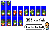 SMB3 styled map Yoshi by Mamamia64
