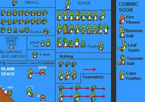 SMB3 styled Yoshi - OLD WORK by Mamamia64