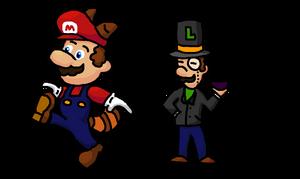 NSMB2 - Mario and Luigi by Mamamia64