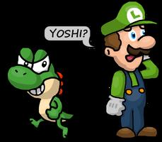 Mama Luigi and Naughty Yoshi by Mamamia64